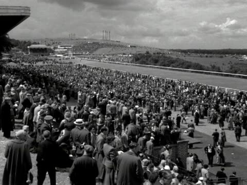 huge crowds gather at goodwood race course to watch the goodwood cup - goodwood racecourse stock videos & royalty-free footage