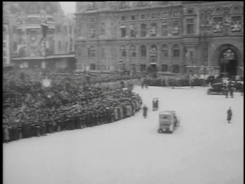 huge crowds of people gathering around city square / paris, france - 1918 stock videos & royalty-free footage