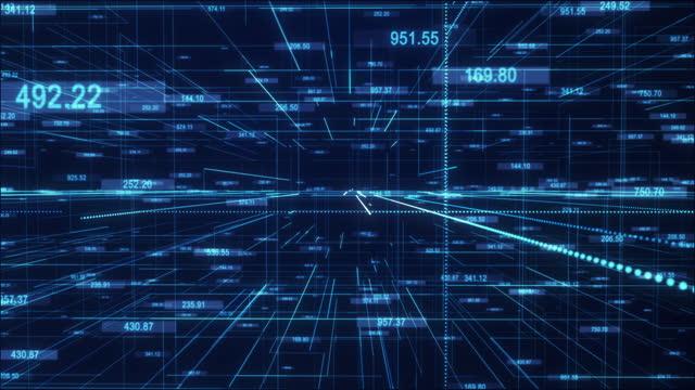 huge digital space and numerical data - 数学点の映像素材/bロール