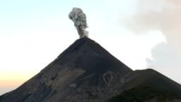 Huge Eruption of Active Vulcan