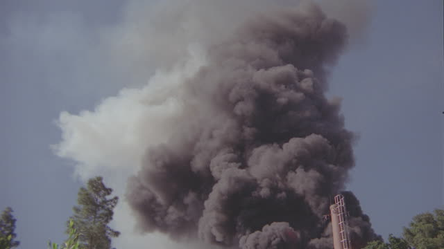 huge explosion & fire at generating plant - fireball stock videos & royalty-free footage