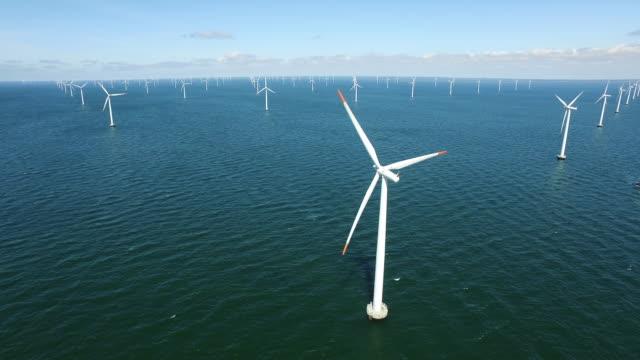 Huge group of wind turbines
