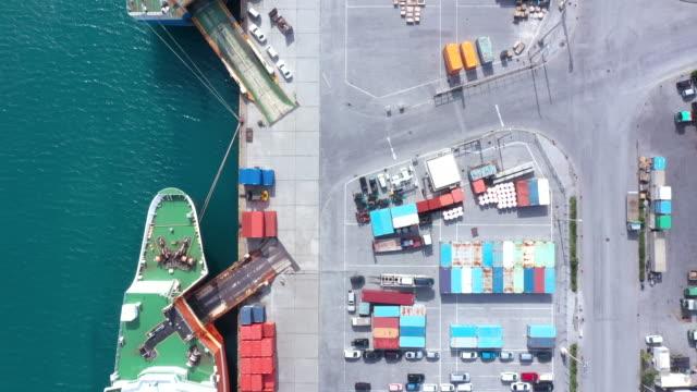 巨大な工業港と商業ドック - 事業戦略点の映像素材/bロール