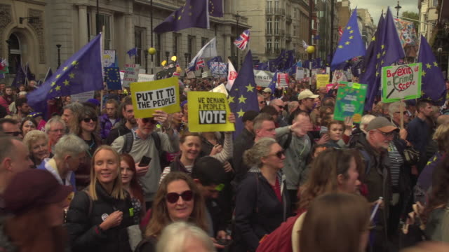 a huge people's vote protest marching through london - voting stock videos & royalty-free footage
