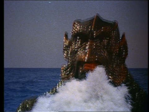 stockvideo's en b-roll-footage met huge sea monster emerging from ocean - b roll