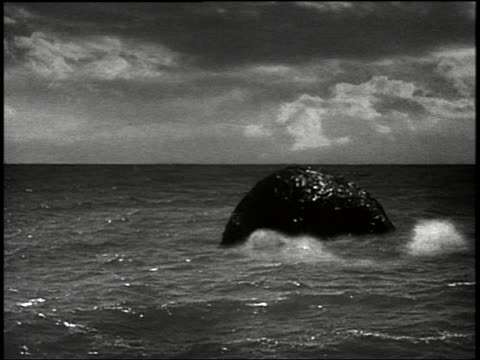 b/w huge tentacle of sea monster emerging from ocean - tentacle stock videos & royalty-free footage