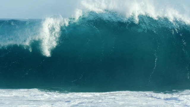 huge wave in slow motion - tsunami stock videos & royalty-free footage