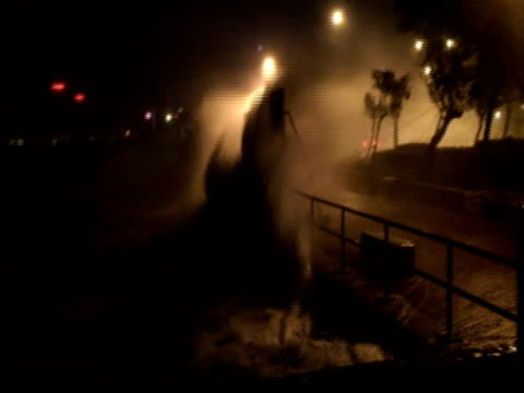huge waves smash seawall and almost topple camera, typhoon koppu, hong kong on night of 14th sept 2009. with audio. - tropical storm stock videos & royalty-free footage