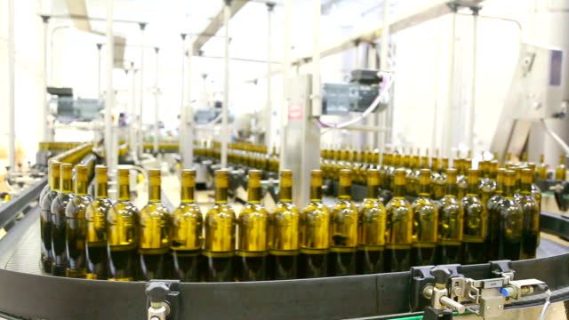 huge wine bottling plant