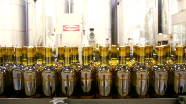 huge wine bottling plant