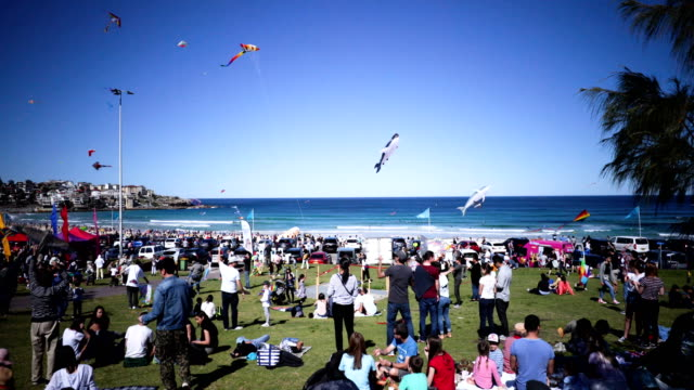 Huges crowds attend the Festival of the Winds in Bondi on September 9 2018 in Sydney Australia Festival of the Winds is Australia's largest kite...
