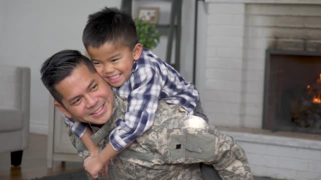 Hugging Dad