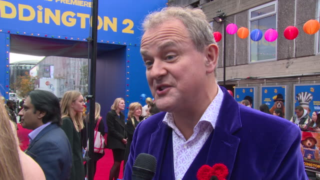 hugh bonneville on the sequel analyzing paddington and favourite set piece at bfi southbank on november 05 2017 in london england - bfi southbank stock videos & royalty-free footage