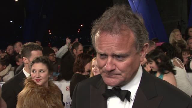 INTERVIEW Hugh Bonneville on the success of Downton Abbey and the new script arriving National TV Awards 2013 at 02 Arena on January 23 2013 in...