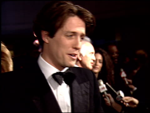 hugh grant at the 1995 golden globe awards at the beverly hilton in beverly hills, california on january 21, 1995. - 1995 stock videos & royalty-free footage