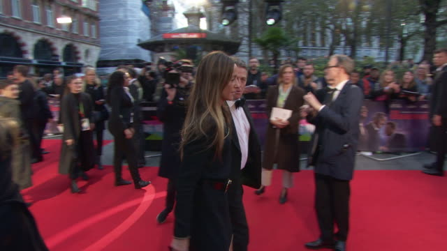 hugh grant at 'the irishman' international premiere 63rd bfi london film festival closing carpet on october 13 2019 in london england - premiere stock-videos und b-roll-filmmaterial