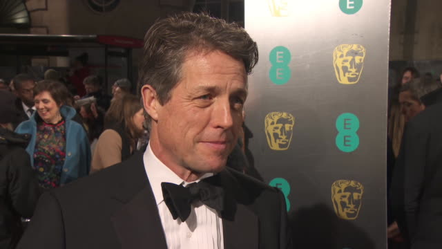 INTERVIEW Hugh Grant on being terrified working with Meryl Streep what she's like working with working on 'Florence Foster Jenkins' at EE British...