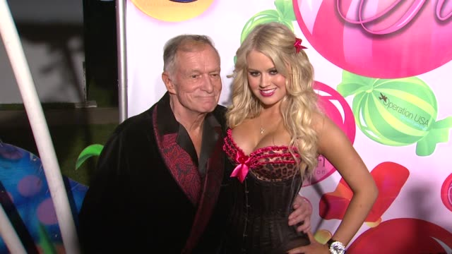 hugh hefner, anna sophia berglund at the 6th annual kandyland at the playboy mansion at beverly hills ca. - hugh hefner stock videos & royalty-free footage