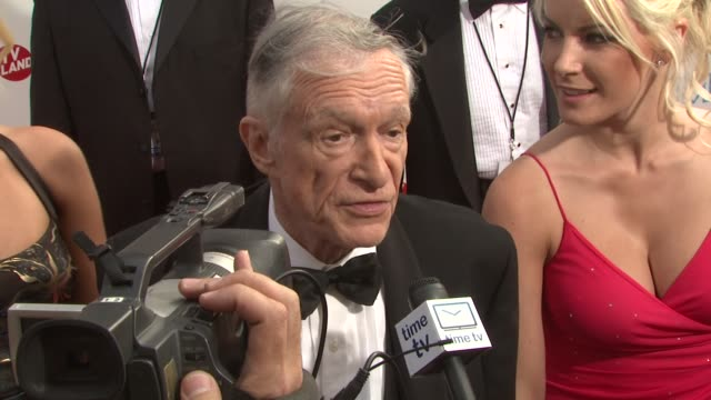 hugh hefner at the 37th afi life achievement award at los angeles ca - hugh hefner stock videos & royalty-free footage