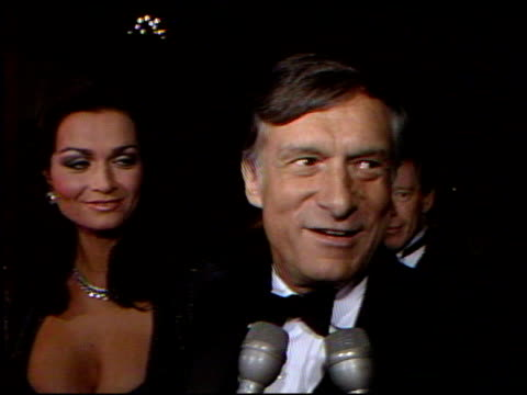 hugh hefner at the 4th annual american cinema awards at the beverly wilshire hotel in beverly hills, california on september 20, 1987. - hugh hefner stock videos & royalty-free footage