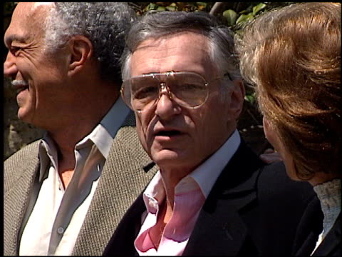 hugh hefner at the 72nd birthday party for hugh hefner at playboy mansion in los angeles california on april 9 1998 - playboy mansion stock videos & royalty-free footage