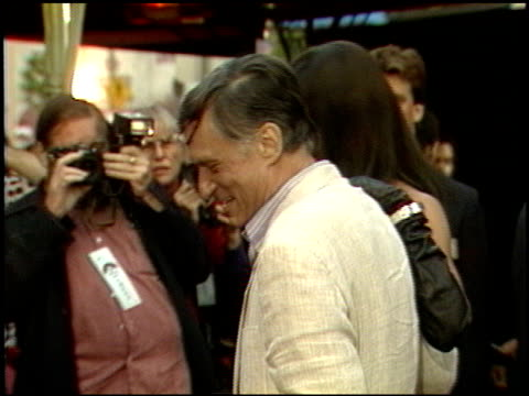 hugh hefner at the beverly hills cop ii premiere at grauman's chinese theatre in hollywood, california on may 19, 1987. - hugh hefner stock videos & royalty-free footage