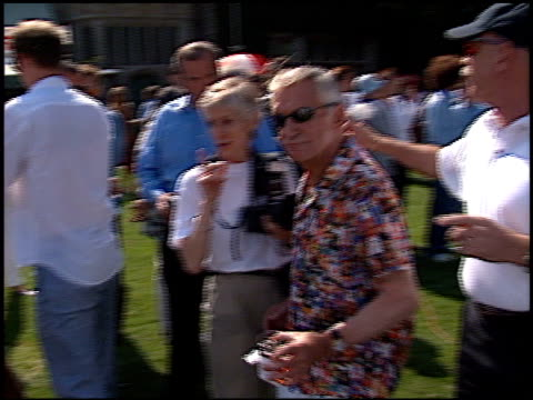 hugh hefner at the playboy fight night at playboy mansion in los angeles california on july 9 2002 - hugh hefner stock videos & royalty-free footage