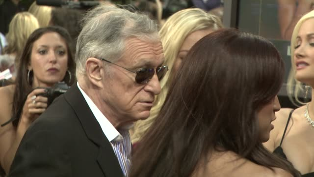hugh hefner at the spike tv's 2nd annual guys' choice awards at sony studios in los angeles, california on may 31, 2008. - hugh hefner stock videos & royalty-free footage