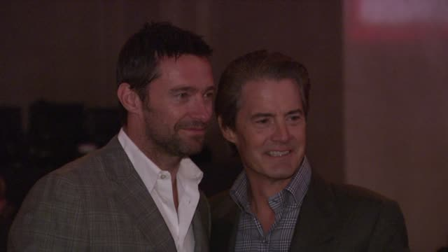 hugh jackman and kyle maclachlan at the worldwide orphans foundation sixth annual benefit gala hosted by heidi klum and seal at new york ny - annual event stock videos & royalty-free footage