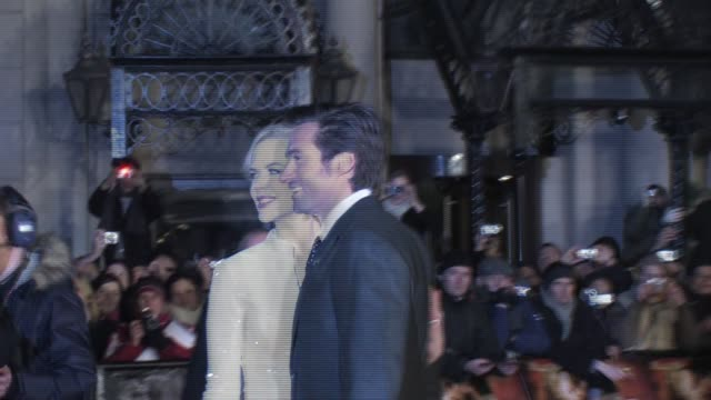 hugh jackman and nicole kidman at the australia uk premiere at london - nicole kidman stock videos & royalty-free footage