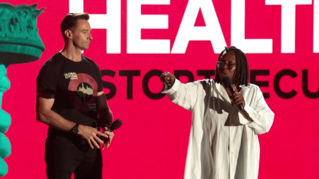 speech hugh jackman and whoopi goldberg at 2017 global citizen festival for freedom for justice for all at central park on september 23 2017 in new... - whoopi goldberg stock videos & royalty-free footage