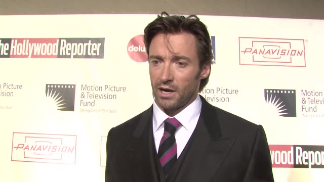 hugh jackman on being a part of the evening his first onstage memory what the stage brings out in him at the 'a fine romance' to benefit the motion... - motion picture & television fund stock videos & royalty-free footage
