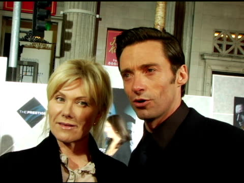 vidéos et rushes de hugh jackman on working with christopher nolan a magicians duel between david copperfield and david blaine and the potential for a batman vs... - illusion