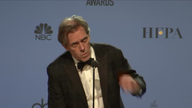 SPEECH Hugh Laurie at 74th Annual Golden Globe Awards Press Room at The Beverly Hilton Hotel on January 08 2017 in Beverly Hills California