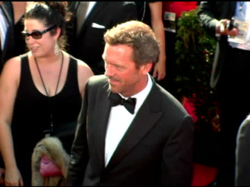hugh laurie at the 2005 emmy awards at the shrine auditorium in los angeles, california on september 18, 2005. - hugh laurie stock videos & royalty-free footage