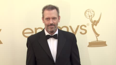 hugh laurie at the 63rd primetime emmy awards - arrivals part 2 at los angeles ca. - hugh laurie stock videos & royalty-free footage