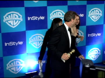 hugh laurie at the instyle/warner brothers golden globes party at the beverly hilton in beverly hills, california on january 16, 2006. - hugh laurie stock videos & royalty-free footage