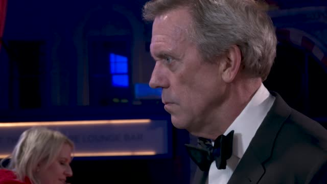 hugh laurie at 'the personal history of david copperfield' opening night gala - 63rd bfi london film festival at odeon luxe leicester square on... - hugh laurie stock videos & royalty-free footage