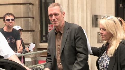hugh laurie celebrity video sightings on may 07, 2013 in london, england - hugh laurie stock videos & royalty-free footage