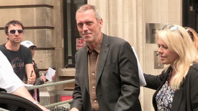 Hugh Laurie Celebrity Video Sightings on May 07 2013 in London England