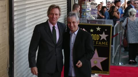 hugh laurie, david shore at hugh laurie honored with star on the hollywood walk of fame on october 25, 2016 in hollywood, california. - hugh laurie stock videos & royalty-free footage
