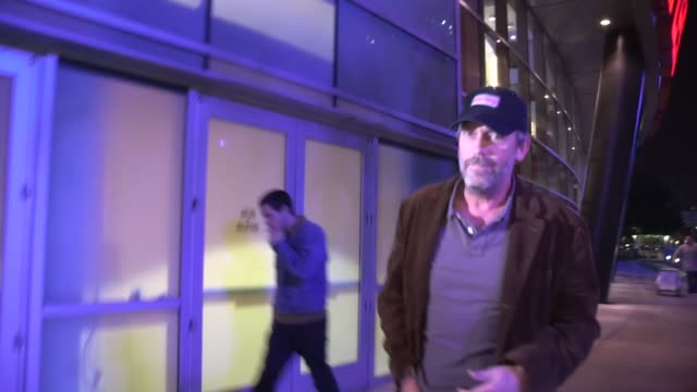 Hugh Laurie departs Staples Center in Los Angeles 01/04/13