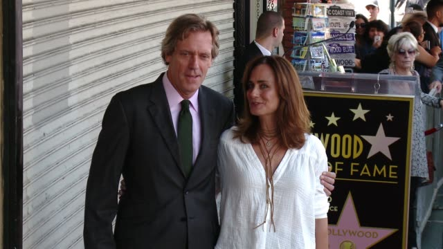 Hugh Laurie Diane Farr at Hugh Laurie Honored With Star On The Hollywood Walk Of Fame on October 25 2016 in Hollywood California