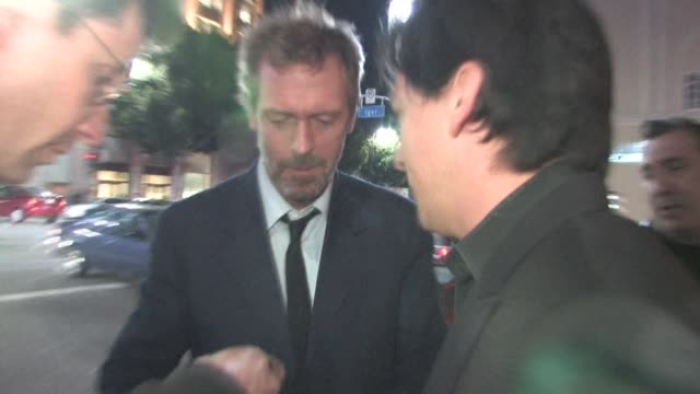 Hugh Laurie outside Beso in Hollywood on 4/9/11