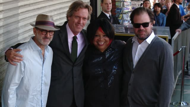 hugh laurie, the copper bottom band at hugh laurie honored with star on the hollywood walk of fame on october 25, 2016 in hollywood, california. - hugh laurie stock videos & royalty-free footage