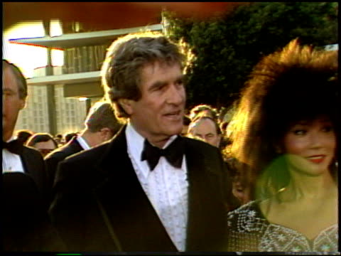 hugh o'brien at the 1987 academy awards at dorothy chandler pavilion in los angeles california on march 30 1987 - dorothy chandler pavilion stock videos and b-roll footage