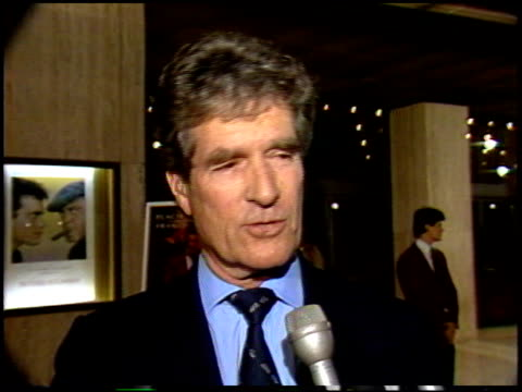 hugh o'brien at the 'othello' premiere at century plaza in century city, california on september 17, 1986. - century city stock videos & royalty-free footage