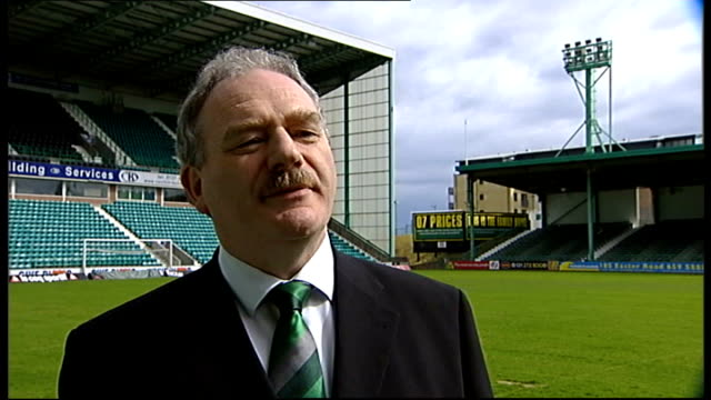 Hughes unveiled as Hibernian manager Edinburgh Easter Road EXT Rod Petrie interview SOT Outlines reasons why club chose Hughes as manager Hughes...