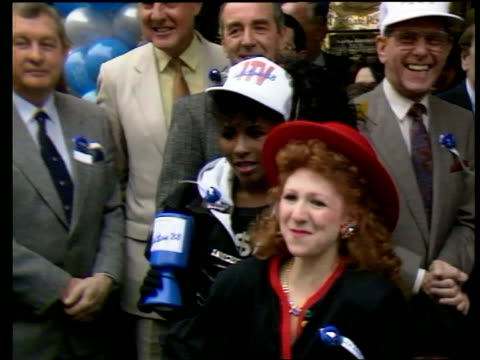 cafe royal bonnie langford with other celebrities at telethon pkf - cafe royal stock videos and b-roll footage