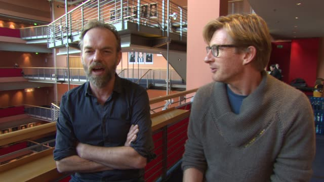 hugo weaving, david wenham on the next 'hobbit' film, middle earth, if hugo weaving is attracted to the next 'star wars' film at 'the turning'... - the hobbit stock videos & royalty-free footage